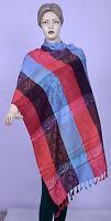 Indian Silk Blend Women Pashmina Reversible Winter Gorgeous Wool Scarf Shawl