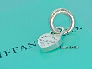 Return To Tiffany & Co Sterling Silver Mini Heart Padlock Charm w Spring Ring 1B