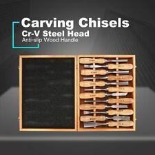 SHE.K 12PCS Wood Carving Chisel Set Sharp Woodworking Knife Tools Gouges kn