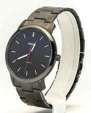 Mens's Fossil Watch, The Minimalist Slim Smoke Stainless Steel Watch FS5377,New