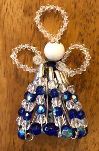 Handmade Beaded Angel - Christmas Decoration