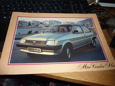 VANDEN PLAS METRO 1980-81 UK Mkt Sales Brochure -