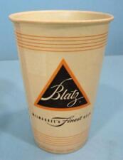 BLATZ BEER ORIGINAL 1950-60's WAX PAPER CUP