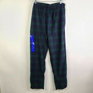 Nautica Sleepwear Plaid Check Blue Green Flannel Pajama Pants Size L NWOT