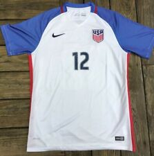 Nike USA USMNT 2016 AUTHENTIC Home Soccer Jersey White Size Large / XL #12