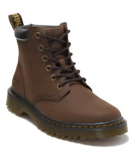 Dr. Martens Men's Cartor Leather Lace-Up Ankle Boots Size 12 Dark Brown NIB