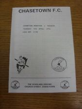 09/04/1992 Chasetown Reserves v Manders  (Four Pages). Thanks for viewing this i