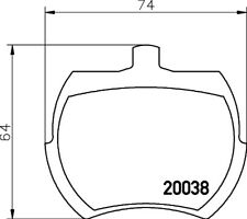 Mintex Front Brake Pad Set MLB37  - BRAND NEW - GENUINE - 5 YEAR WARRANTY