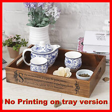 3 x Timber Wooden Breakfast Tea Soft Drink Tray Display Cabinet Spice Rack A4-1