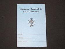 Asociacion Nacional de Scouts Peruanas Pocket Card     c10