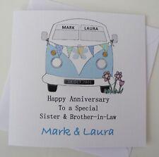 Personalised Anniversary Card Engagement Wedding Day Card Campervan Handmade