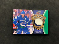 2016-17 UPPER DECK SERIES TWO HENRIK SEDIN UD GAME PATCH GOLD #ed 3/15