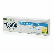 Toms of Maine Natural Simply White Fluoride Toothpaste Sweet Mint 4.70 oz