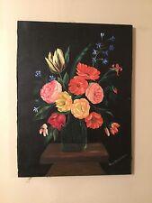 pintura en oleo flores