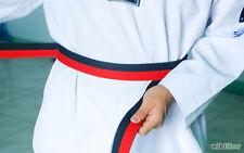 Poom Belt 4cm Wide Double Wrap Black/Red for Taekwondo Karate Judo Kendo Hapkido