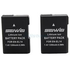 2x EN-EL14 EN-EL14a Battery for Nikon D5500 D5300 D5200 D3300 D3200 D3100