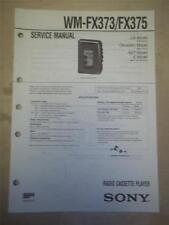 Sony Service Manual~WM-FX373/FX375 Walkman Radio Cassette Player~Original~Repair