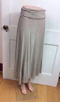 LANI CALIFORNIA Striped Maxi Skirt Jersey Knit Women's Small