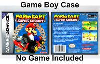 Mario Kart Super Circuit - Game Boy Advance GBA Custom Case *NO GAME*
