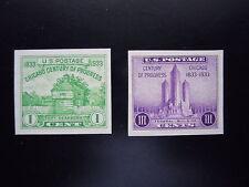 1933 #730a & 731a 1c & 3c Souvenir Sheet Singles MNH