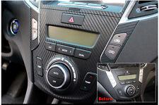 3D Carbon Center Fascia Sticker Decals For 13 14 2015+ Hyundai Santa Fe DM Sport
