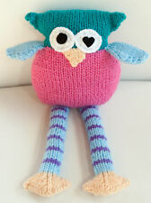 Pinki the hand knitted owl - genuine Eatmyfeet product