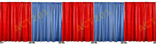 8 FT HIGH x 50 FT WIDE PIPE AND DRAPE KIT (WITH PREMIUM DRAPES) - PIPE & DRAPE