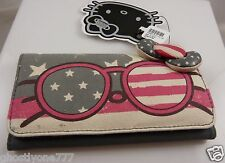Hello Kitty Americana flag bow wallet Sanrio id Claire's cute clutch july 4