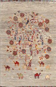 Tribal Pictorial Tree Animal Design Zeigler Oriental Area Rug Wool Handmade 3x5