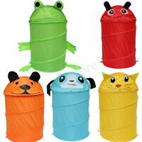 Foldable Cartoon Washing Kids Toys Clothes Laundry Basket Hamper Storage Bin Bag