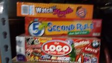 Set of 3 board games.. Shut ya mouth, 5 second rule, logo board game.
