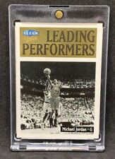 1998-99 Fleer Ultra Leading Performers Booklet Michael Jordan Bulls Insert Rare