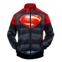 Avengers Endgame 3D Print Superman Sweatshirt Cosplay Costume Zipper Jacket Coat
