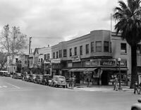 "1942 Street Corner, Sacramento, California Old Photo 8.5"" x 11"" Reprint"
