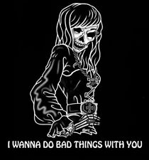 DO BAD THINGS GOTHIC GOTH SKELETON GIRL SKULL T-SHIRT 4