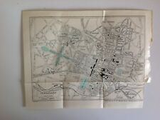 Versailles Street Plan, C1920 Vintage Map, Paris, Original