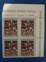 Italy - 1974 - vine and wine  - 1 block of 4 stamps  - MNH