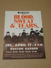 Blood Sweat & Tears 1970 US Boston Garden Handbill
