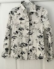 LIVERPOOL BLACK AND WHITE FLORAL JACKET SIZE XS