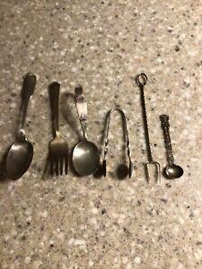 Sterling Silver Scrap Lot Spoon Flatware  Tongs Gorham Fork 66 Grams 2.3 OZ 1908