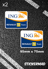 RENAULT F1 Team ING Sponsor Stickers F1 Grand Prix Clio RS 5 Turbo World Series
