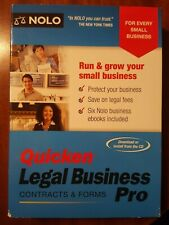 Quicken Legal Business Pro Contracts & Forms  Free Shipping in the USA