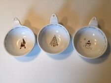 Pottery Barn Holiday Cheer Candy Nut Bowls Dishes Set Of 3