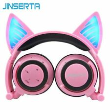 Bluetooth Headphones LED Wireless Headset Cat Ear Bass Stereo Gaming Earphone