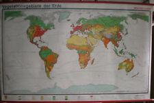 Schulwandkarte muro mapa schulkarte tierra mundo mapa del mundo vegetación World 200x126
