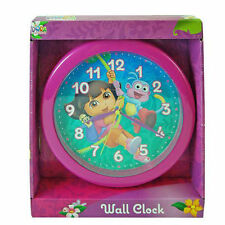 "Wall Clock 9.5"" Quartz Nickelodeon Dora the Explorer Pink NIP"