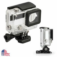 Silver/Black Waterproof Diving Surfing Protective Housing Case for GoPro Hero 4
