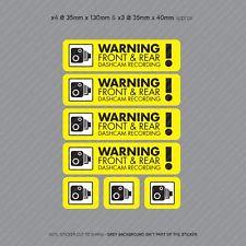 7 x Dash Cam Recording Stickers CCTV In Car Video Camera Decal Sticker - SKU3101