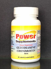 Glucosamine Chondroitin + MSM, osteoarthritis, joint pain relief - 30 tablets.