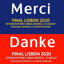 Final Lisbon 2020 Match Details Patch and Merci Danke Thank You Patch